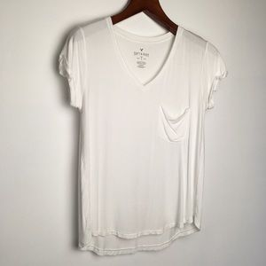 American Eagle Soft & Sexy White Tee